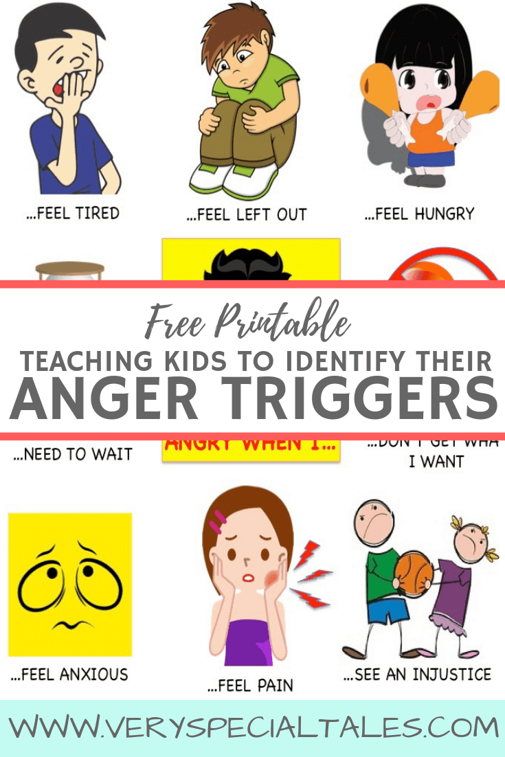 ANGER TRIGGERS IN KIDS PRINTABLE