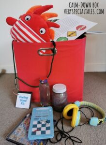 Calm down box with anger management activities for kids / Calming Toolbox