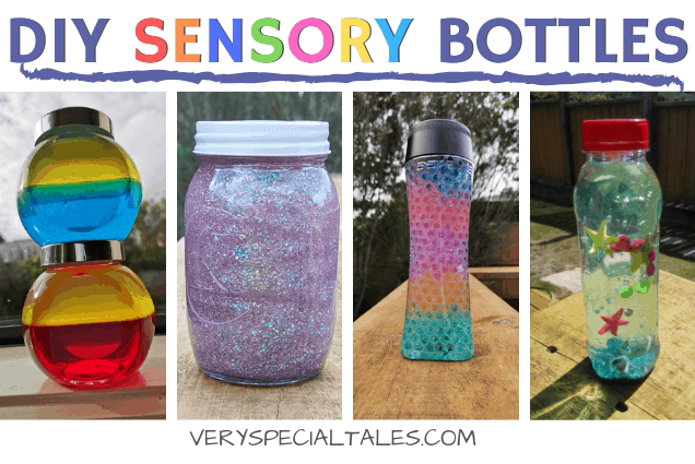 7 Diy Sensory Bottles Recipes Oil Glitter Glue Water Beads Hand Wash Super Easy Very Special Tales