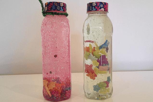 Sensory Bottles with Liquid Soap