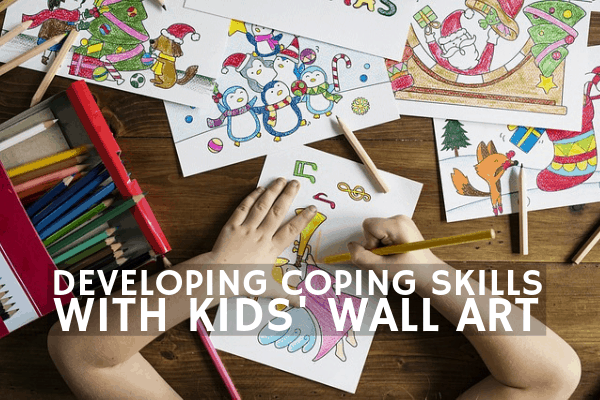 kids wall art for coping skills banner