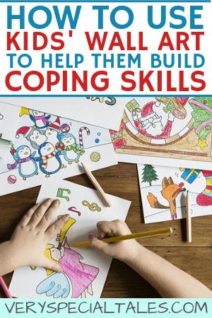 using kids wall art to build coping skills