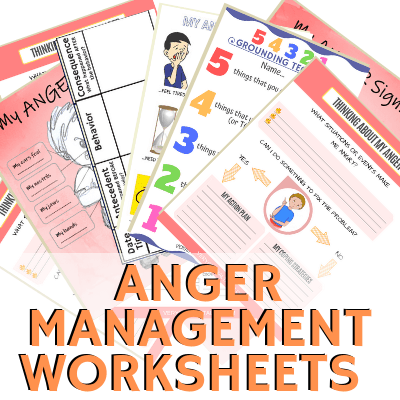 FREE ANGER MANAGEMENT WORKSHEETS FOR KIDS AND TEENS