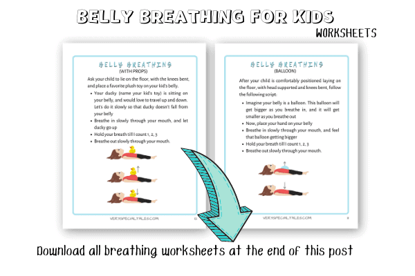Belly Breathing for Kids_Diaphragmatic Breathing_Worksheets