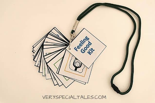 Calm Down Cards with Lanyard