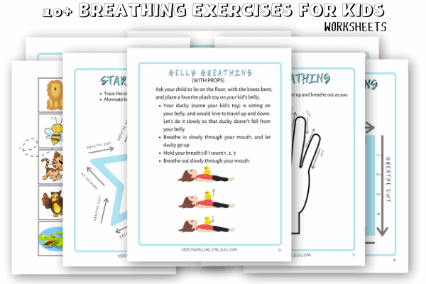 DEEP BREATHING EXERCISES FOR KIDS_worksheets_Free PDF