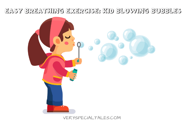 Girl Blowing Bubbles_Easy Breathing Exercise