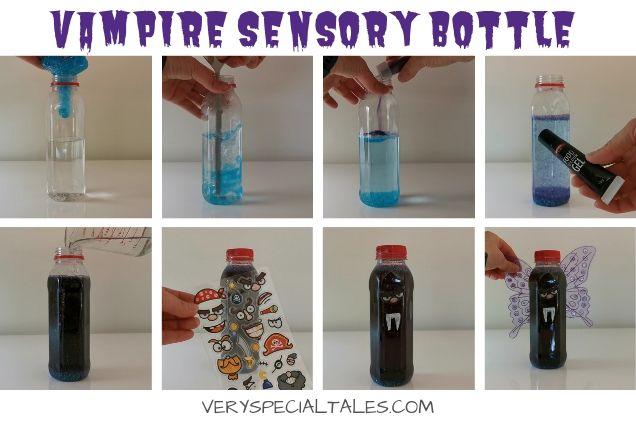 HOW TO MAKE A HALLOWEEN VAMPIRE SENSORY BOTTLE