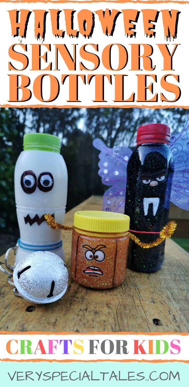 Halloween Sensory Bottles_Ghost Vampire Pumpkin Crafts for Kids