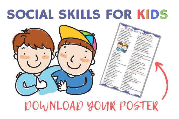 Social Skills for Kids Free Poster Download