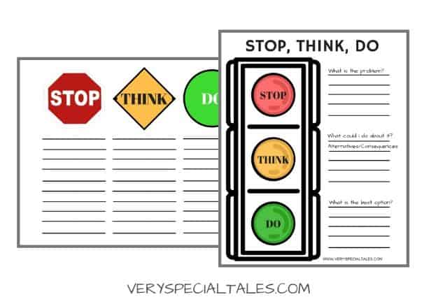 Problem Solving Worksheets: Stop Think Do