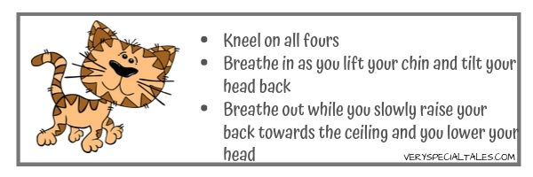 Cat Pose and Breathing- Yoga Breathing Exercises for Kids VST