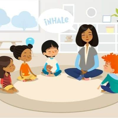 Deep breathing exercises for kids in the classroom