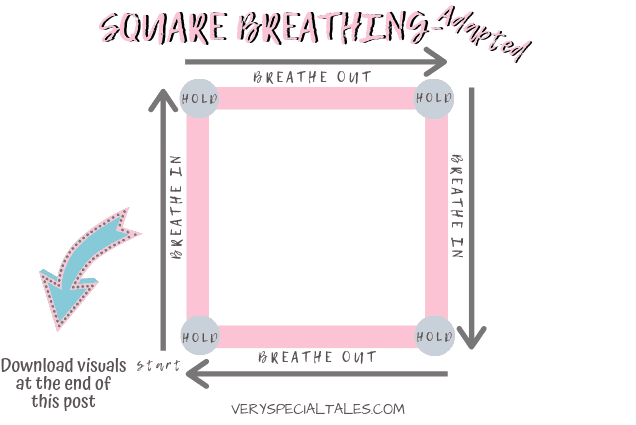 Adapted Square Breathing Pdf to Make it Even Easier for Kids