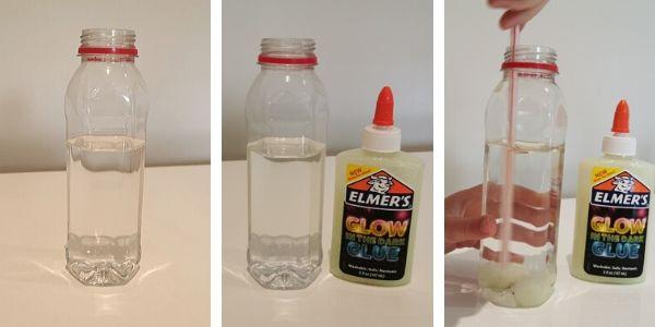 Preparing a Snowman Sensory Bottle