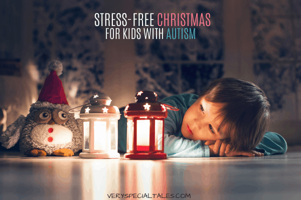 STRESS-FREE CHRISTMAS TIPS AND ADVICE FOR KIDS WITH AUTISM AND THEIR FAMILIES_KID LOOKING AT A LIGHT