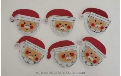 Santa Claus felt stickers