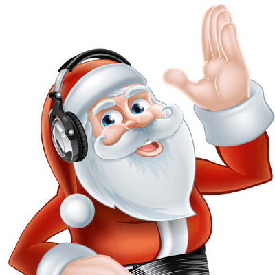 Santa Claus with Headphones_Happy Autism Christmas