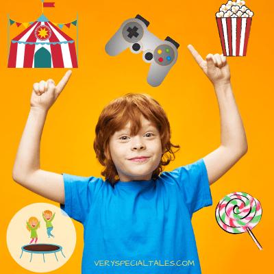 Kid pointing to different reward ideas