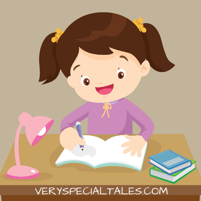 Girl Writing_ Wring Prompts for Kids