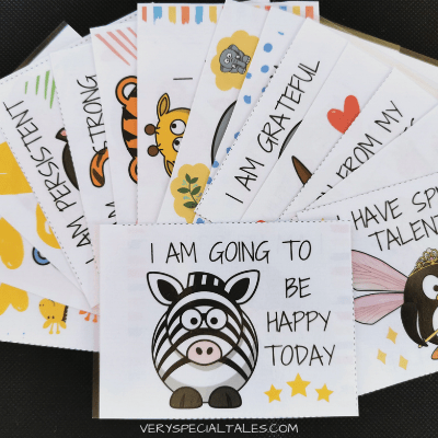 set of affirmation cards for kids
