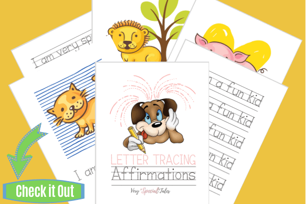 Letter Tracing Affirmations Worksheets_Check Shop Visual
