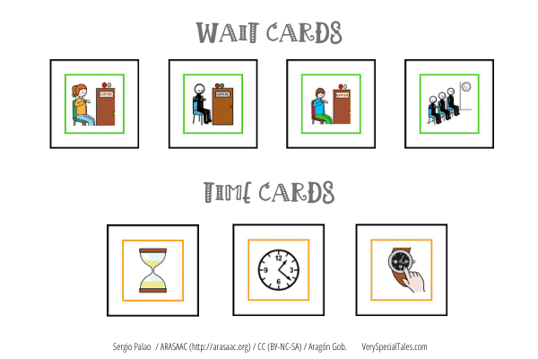 Autism-friendly visuals_Wait Cards and Time Cards