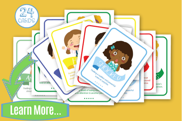 Emotions Flashcards with Kids Illustrations