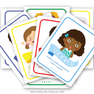 A Set of Emotions Flashcards also known as Feelings Flashcards