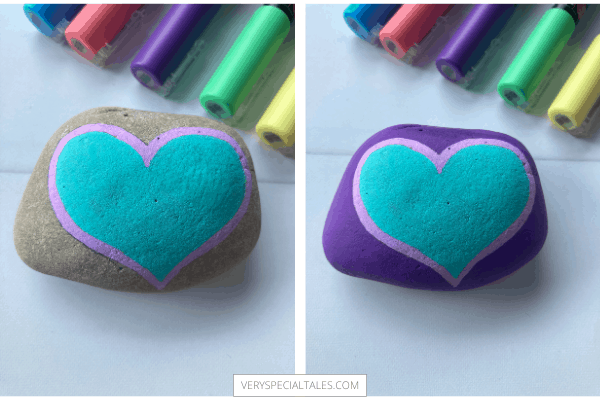 ADDING COLOR TO A HAND PAINTED GRATITUDE ROCK