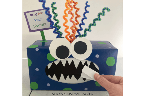 Feeding Worries to the Monster Worry Box final