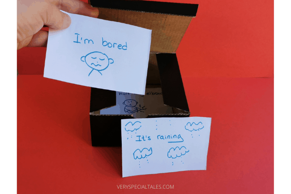 an example of worry box with a recycled black box