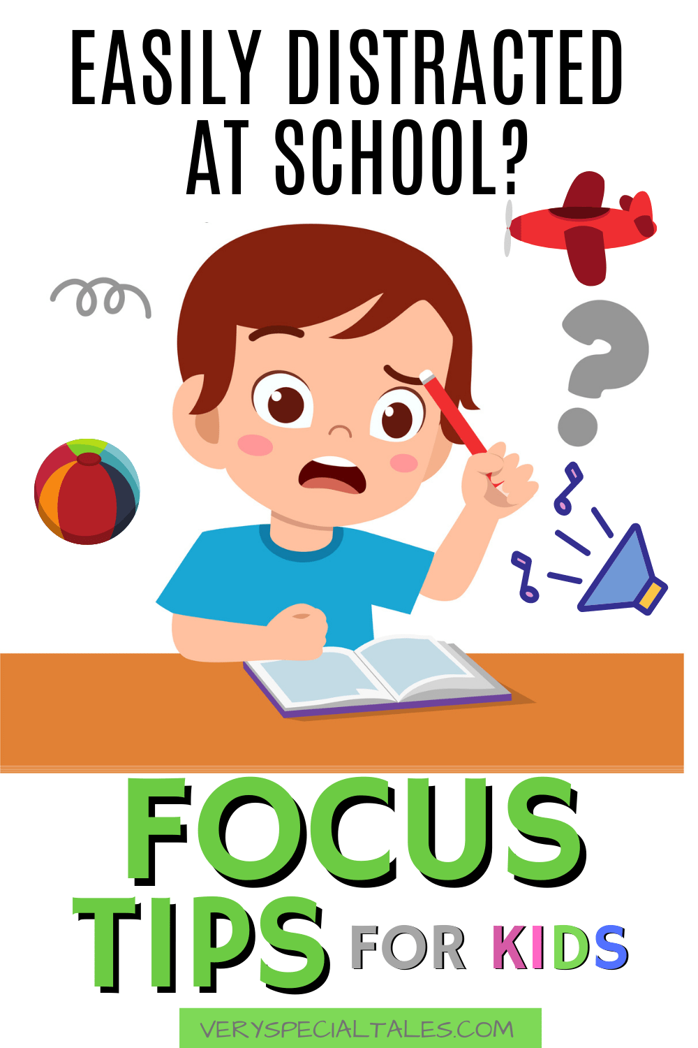 A kid finding it difficult to focus because of many distractions