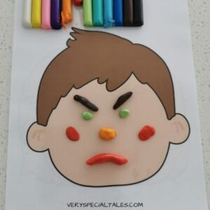 Emotions Playdough Mats_Angry Face