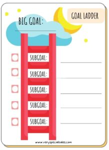 Goal Ladder for Kids with Subgoals_ Goal Setting for Kids