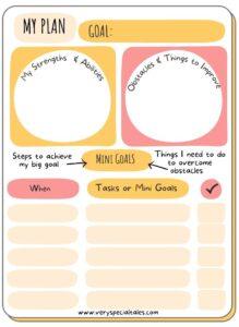 Goal Planner for Kids PDF _Goal Setting Activities for Kids