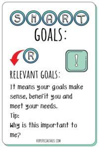 Relevant Goals Flashcard_SMART
