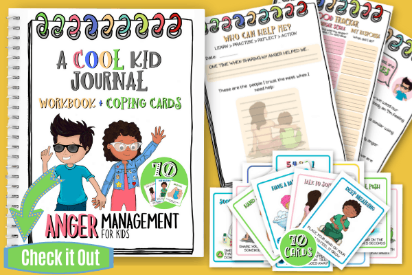 Anger Workbook for Kids + Calm Down Cards